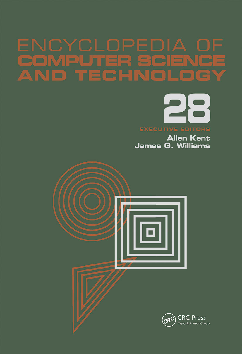 Encyclopedia of Computer Science and Technology: Volume 28 - Supplement 13: AerosPate Applications of Artificial Intelligence to Tree Structures, 1st Edition (Hardback) book cover