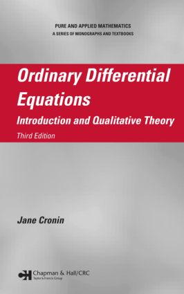 Ordinary Differential Equations: Introduction and Qualitative Theory, Third Edition, 3rd Edition (Hardback) book cover
