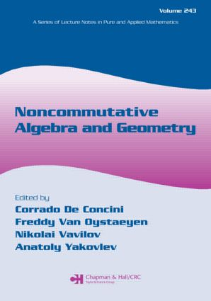 Noncommutative Algebra and Geometry: 1st Edition (Paperback) book cover