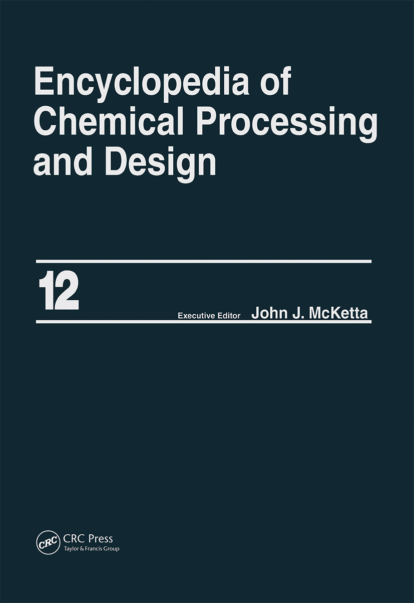 Encyclopedia of Chemical Processing and Design: Volume 12 - Corrosion to Cottonseed, 1st Edition (Hardback) book cover