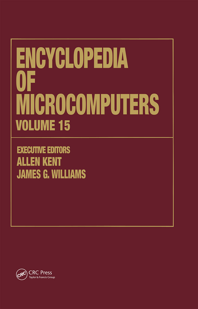 Encyclopedia of Microcomputers: Volume 15 - Reporting on Parallel Software to SNOBOL, 1st Edition (Hardback) book cover
