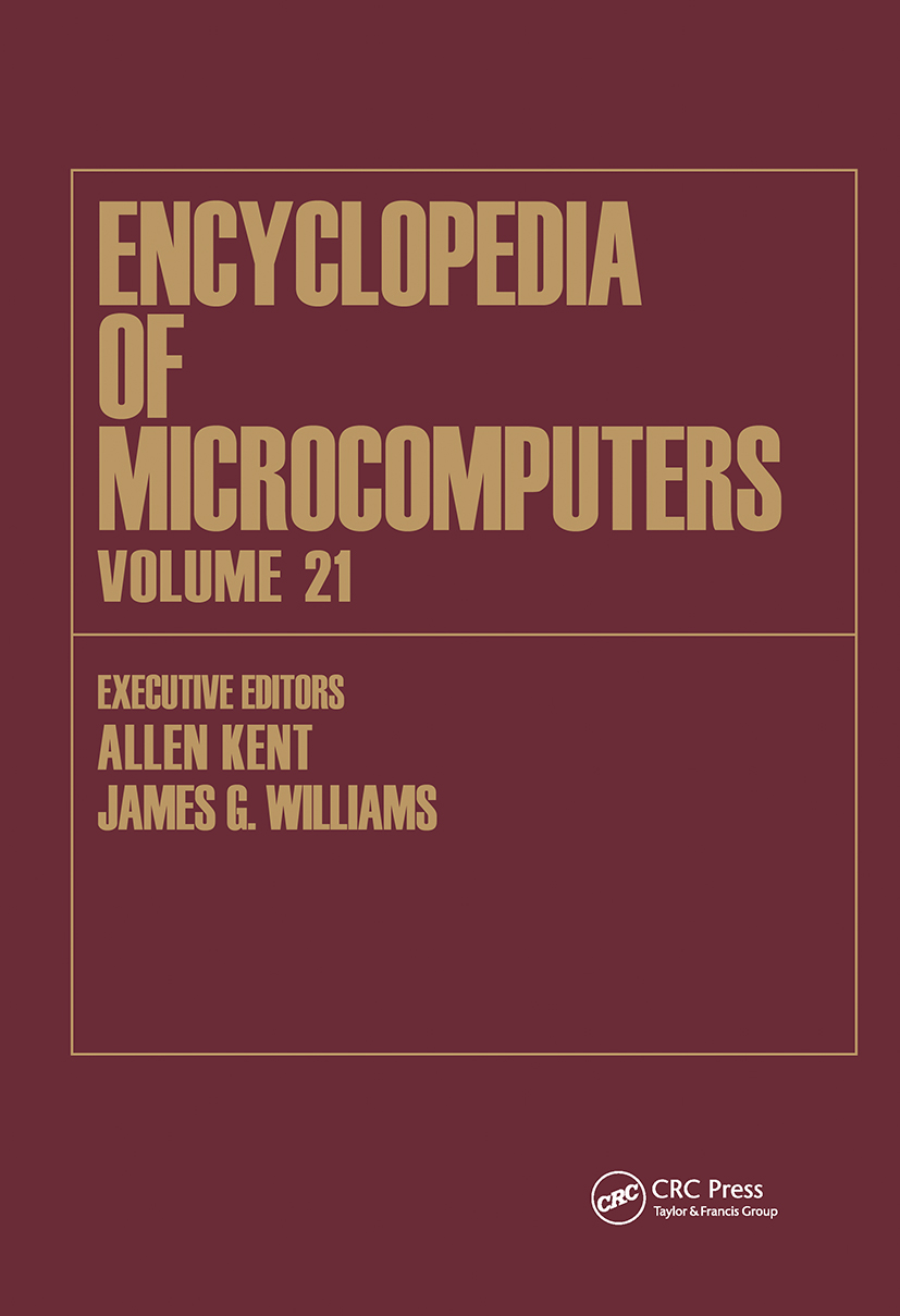 Encyclopedia of Microcomputers: Volume 21 - Index, 1st Edition (Hardback) book cover