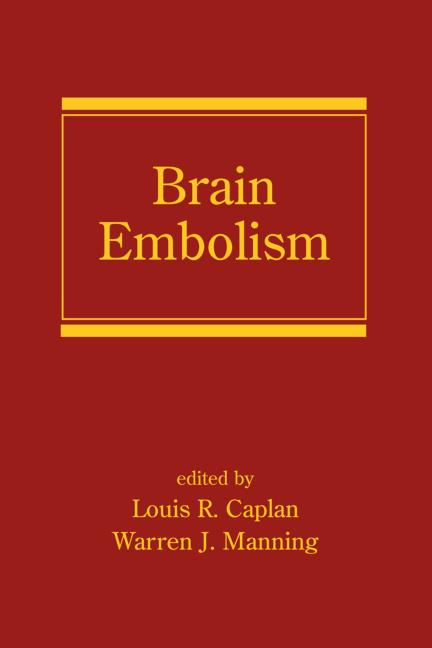 Brain Embolism: 1st Edition (Hardback) book cover