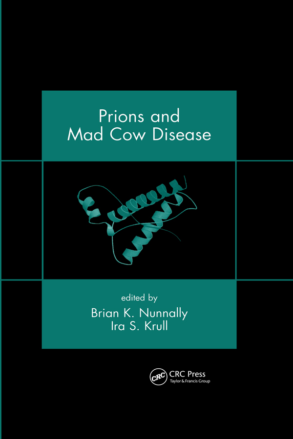 Prions and Mad Cow Disease: 1st Edition (Hardback) book cover
