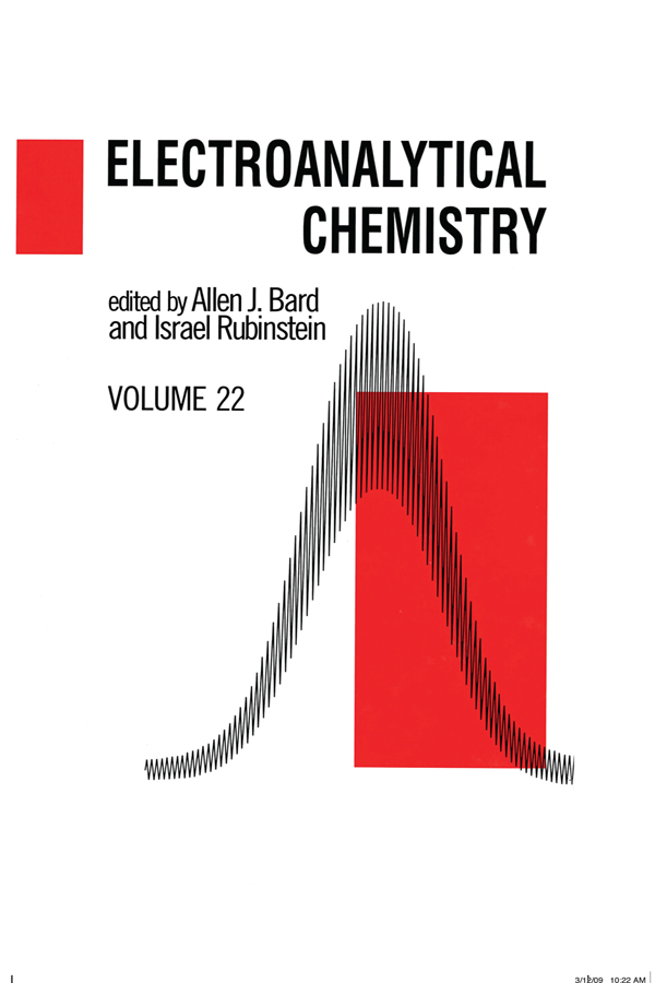 Electroanalytical Chemistry: A Series of Advances: Volume 22, 1st Edition (Hardback) book cover