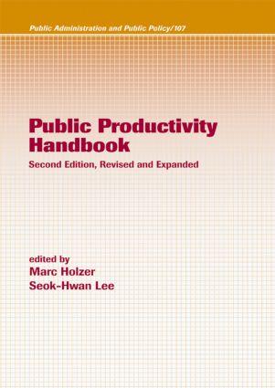 Public Productivity Handbook: 2nd Edition (Hardback) book cover