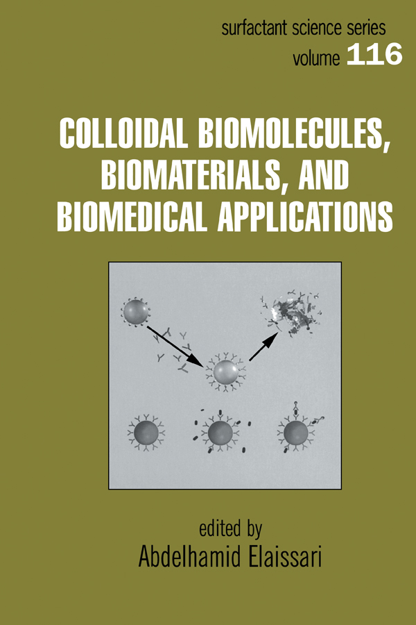 Colloidal Biomolecules, Biomaterials, and Biomedical Applications: 1st Edition (Hardback) book cover