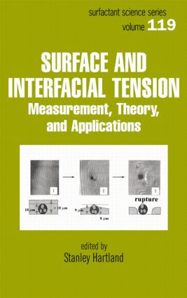 Surface and Interfacial Tension: Measurement, Theory, and Applications, 1st Edition (Hardback) book cover