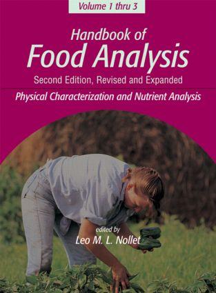 Handbook of Food Analysis -3 Volume Set
