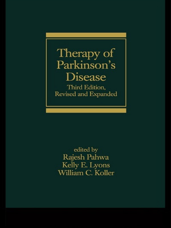 Therapy of Parkinson's Disease, Third Edition book cover
