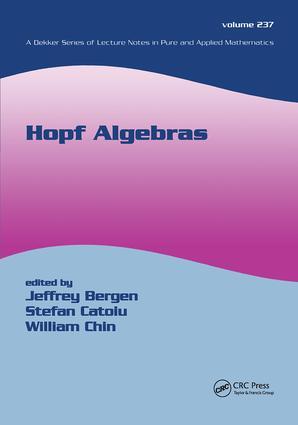 Hopf Algebras: 1st Edition (Hardback) book cover