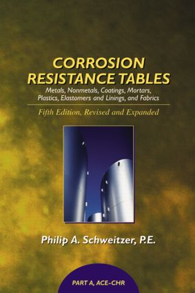 Corrosion Resistance Tables: Metals, Nonmetals, Coatings, Mortars, Plastics, Elastomers, and Linings and Fabrics, Fifth Edition (4 Volume Set) book cover