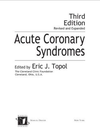 Acute Coronary Syndromes: 3rd Edition (Hardback) book cover