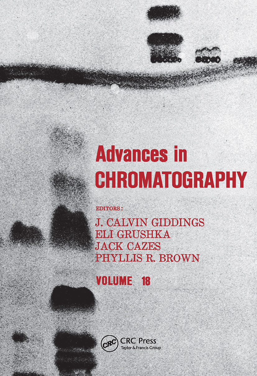 Advances in Chromatography: Volume 18, 1st Edition (Hardback) book cover