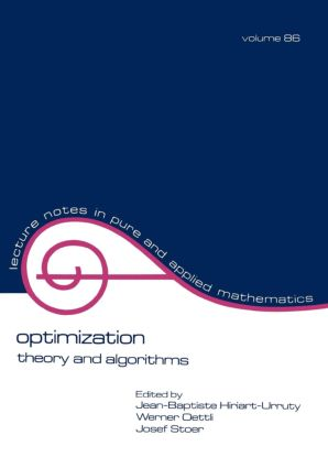 Optimization: Theory and Algorithms, 1st Edition (Paperback) book cover