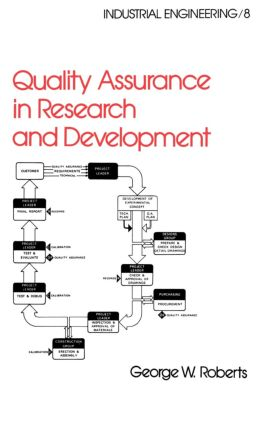 Quality Assurance in Research and Development: 1st Edition (Hardback) book cover