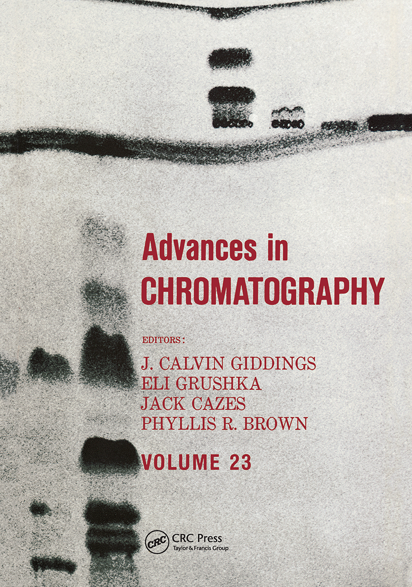 Advances in Chromatography: Volume 23 book cover