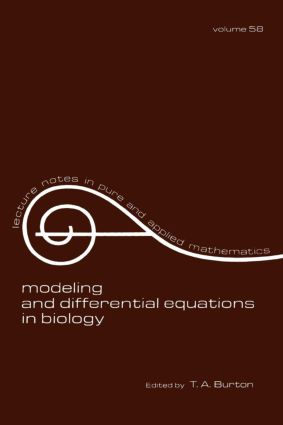 Modeling and Differential Equations in Biology: 1st Edition (Paperback) book cover