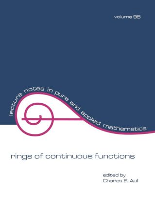 Rings of Continuous Function: 1st Edition (Paperback) book cover