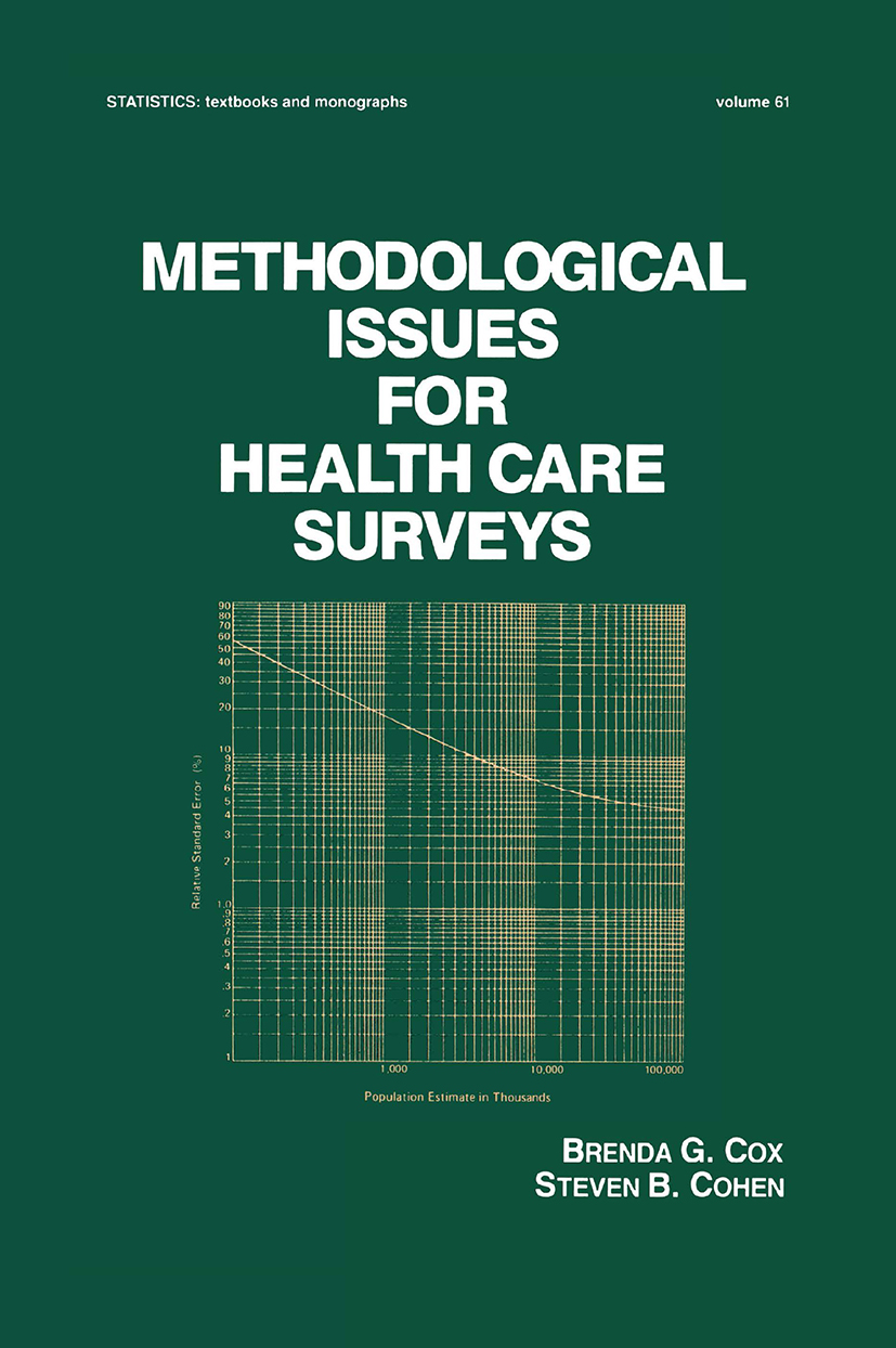 Methodological Issues for Health Care Surveys (Hardback) book cover