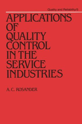 Applications of Quality Control in the Service Industries book cover