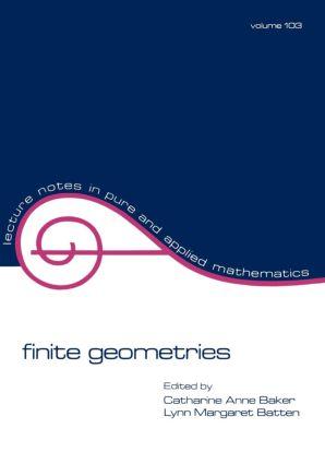 Finite Geometries: 1st Edition (Paperback) book cover