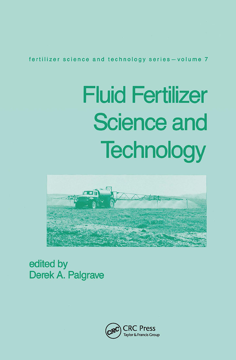 Fluid Fertilizer Science and Technology: 1st Edition (Hardback) book cover