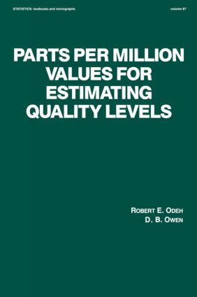 Parts per Million Values for Estimating Quality Levels: 1st Edition (Hardback) book cover
