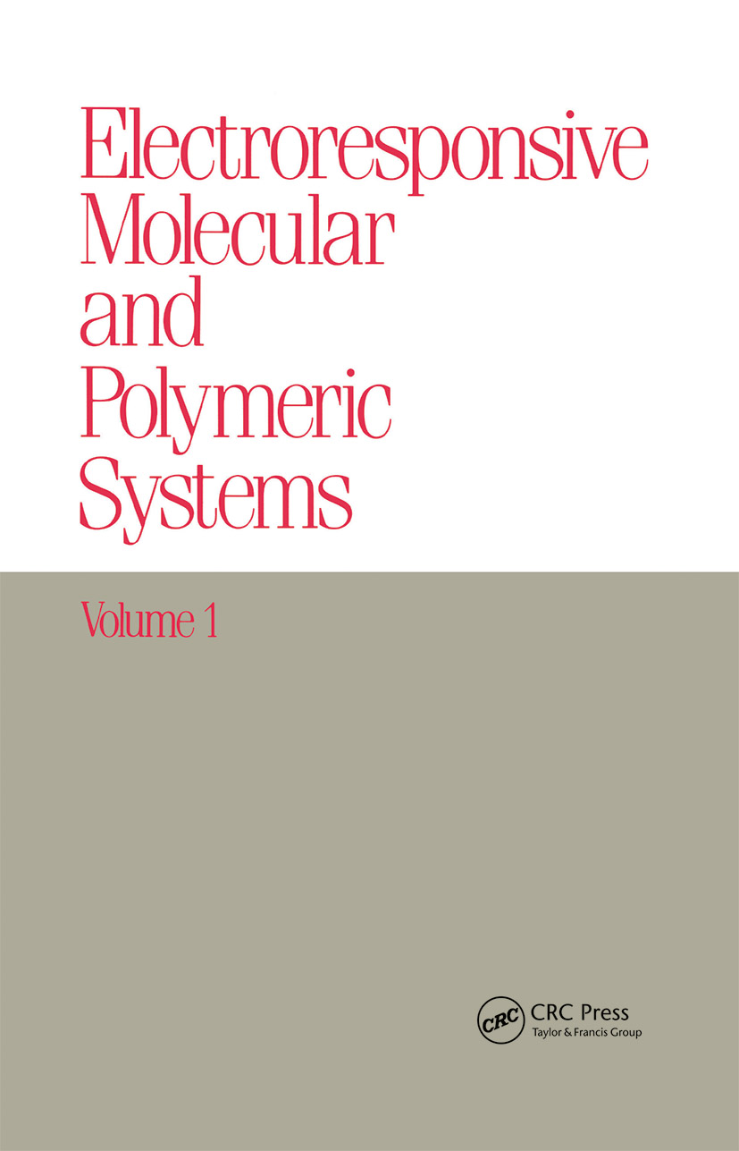 Electroresponsive Molecular and Polymeric Systems: Volume 1:, 1st Edition (Hardback) book cover