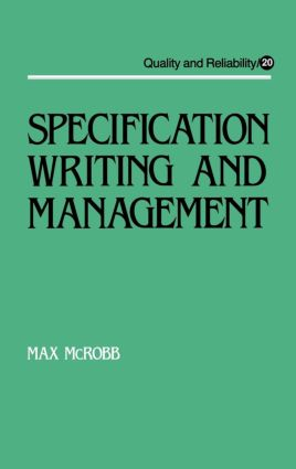 Specification Writing and Management book cover