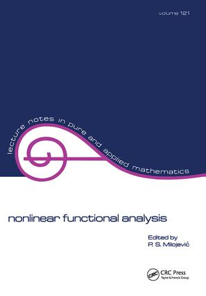 Nonlinear Functional Analysis: 1st Edition (Paperback) book cover