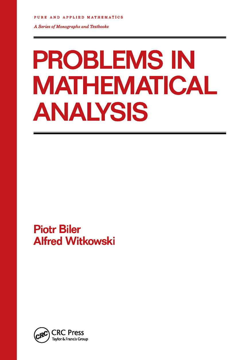 Problems in Mathematical Analysis: 1st Edition (Hardback) book cover