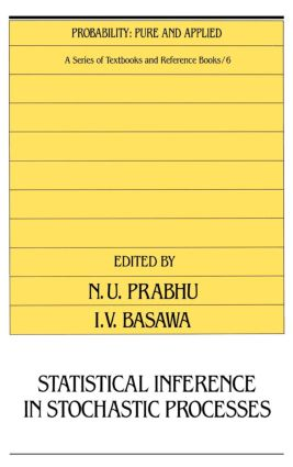 Statistical Inference in Stochastic Processes: 1st Edition (Hardback) book cover