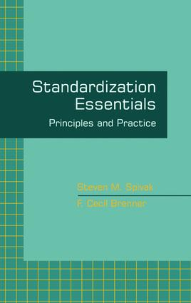 Standardization Essentials: Principles and Practice, 1st Edition (Hardback) book cover