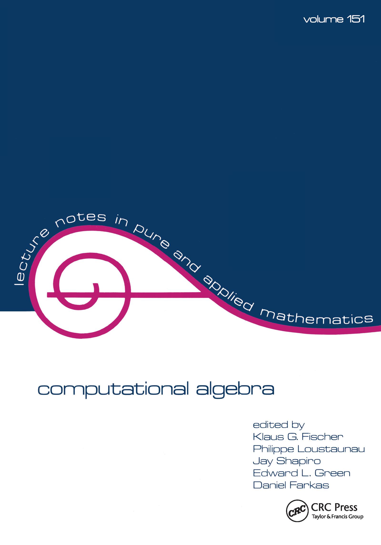 Computational Algebra: 1st Edition (Paperback) book cover