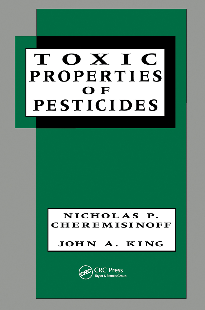 Toxic Properties of Pesticides book cover