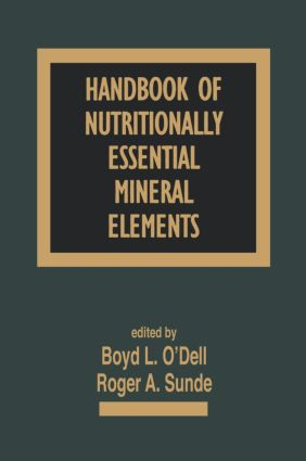 Handbook of Nutritionally Essential Mineral Elements: 1st Edition (Hardback) book cover