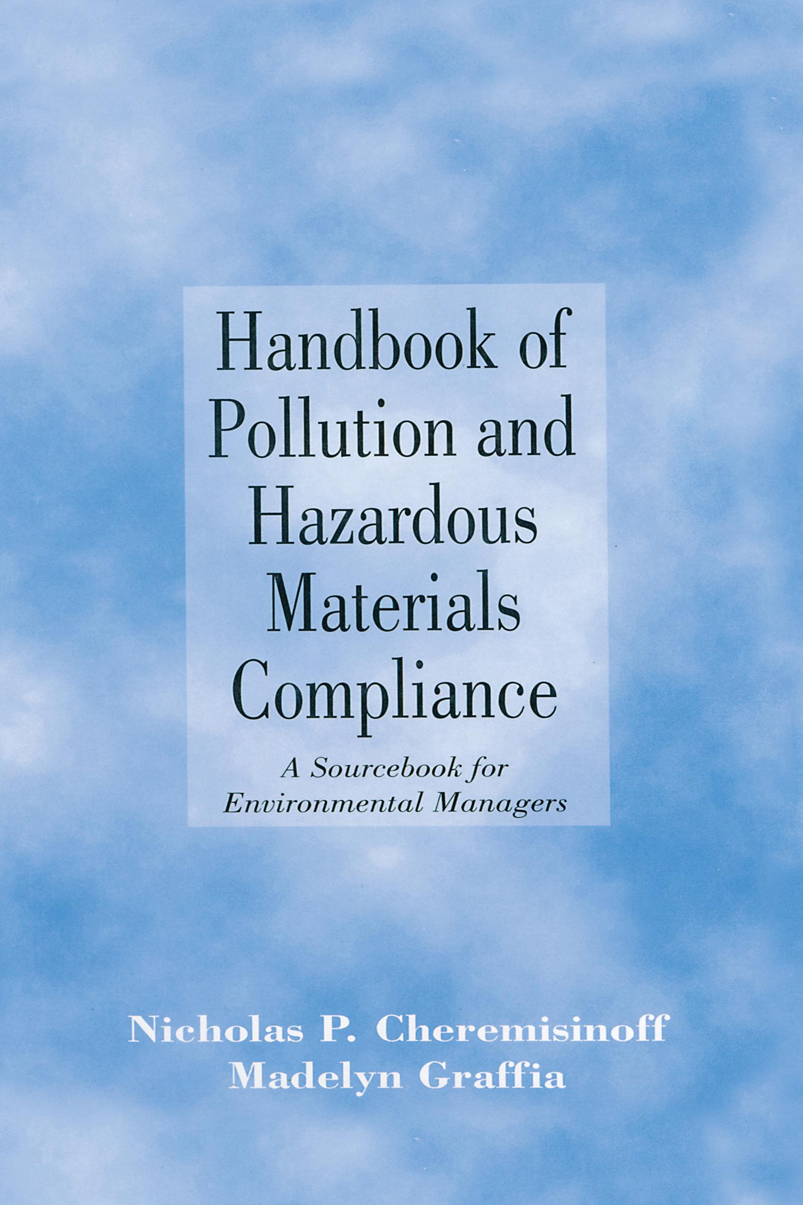 Handbook of Pollution and Hazardous Materials Compliance