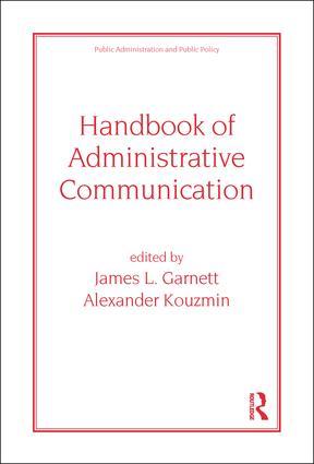 Handbook of Administrative Communication: 1st Edition (Hardback) book cover