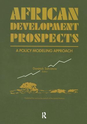 African Development Prospects: A Policy Modelling Approach, 1st Edition (Hardback) book cover
