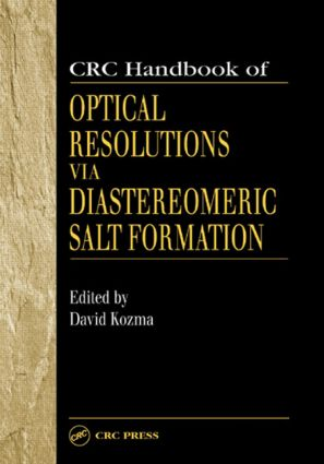CRC Handbook of Optical Resolutions via Diastereomeric Salt Formation: 1st Edition (Hardback) book cover