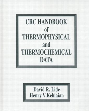 CRC Handbook of Thermophysical and Thermochemical Data: 1st Edition (Hardback) book cover