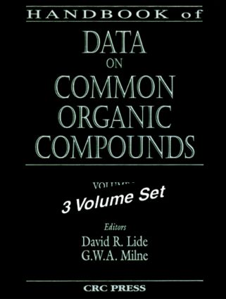 Handbook of Data on Common Organic Compounds: 1st Edition (Hardback) book cover