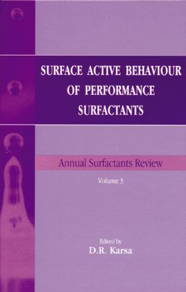 Surface Active Behaviour of Performance Surfactants: 1st Edition (Hardback) book cover