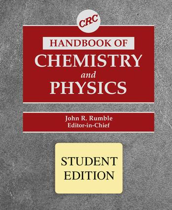 CRC Handbook of Chemistry and Physics, Student Edition: 98th Edition (Hardback) book cover
