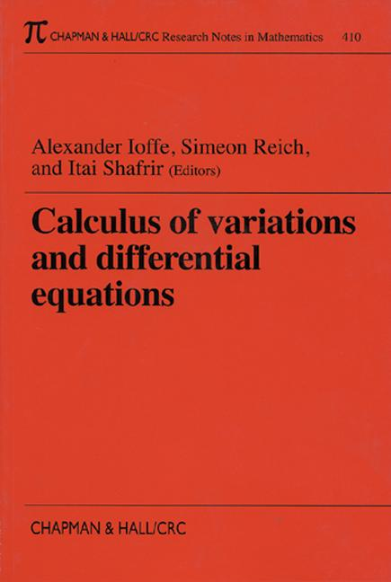 Calculus of Variations and Differential Equations: 1st Edition (Paperback) book cover