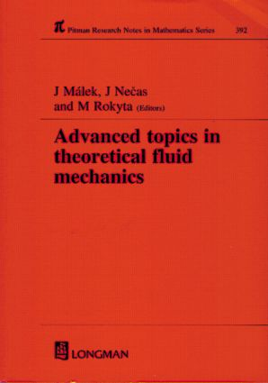 Advanced Topics in Theoretical Fluid Mechanics: 1st Edition (Hardback) book cover