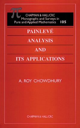 Painleve Analysis and Its Applications book cover