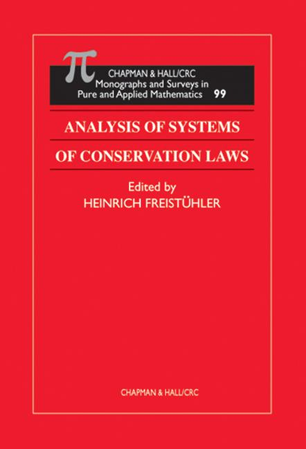 Analysis of Systems of Conservation Laws book cover