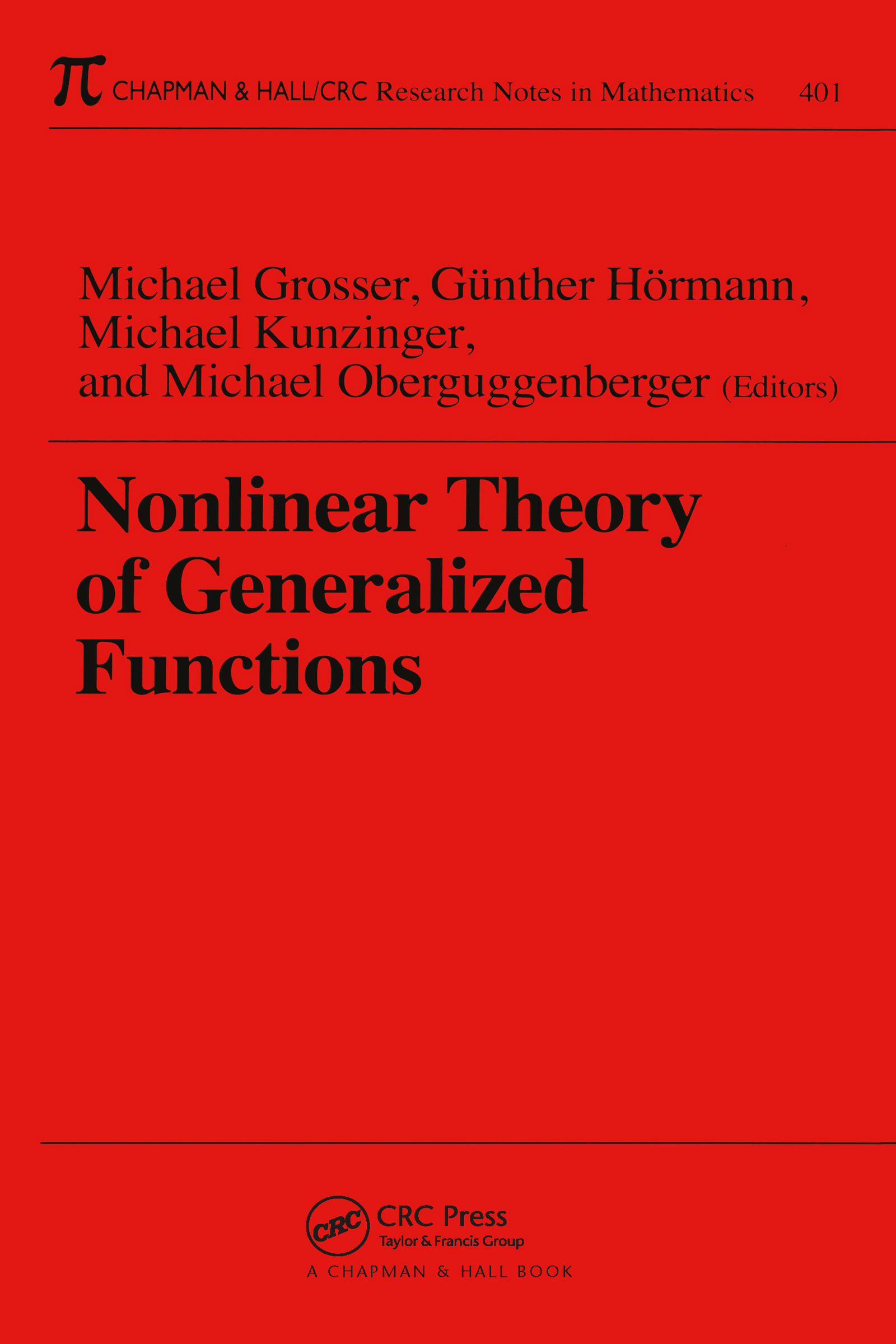 Nonlinear Theory of Generalized Functions: 1st Edition (Paperback) book cover
